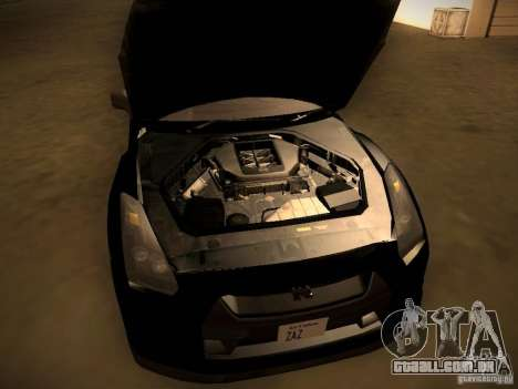 Nissan GT-R para GTA San Andreas vista interior