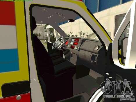 Renault Master rápido Samara para GTA San Andreas vista direita