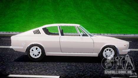 Audi 100 Coupe S para GTA 4 esquerda vista
