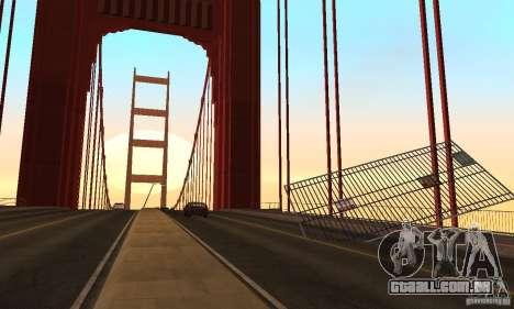Ponte destruída em San Fierro para GTA San Andreas sétima tela