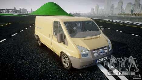 Ford Transit 2009 para GTA 4 vista de volta