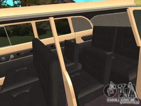 GÁS 13 para GTA San Andreas vista interior