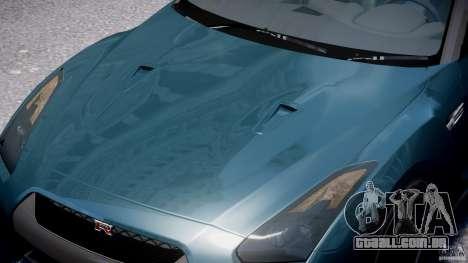 Nissan GTR R35 SpecV v1.0 para GTA 4 interior