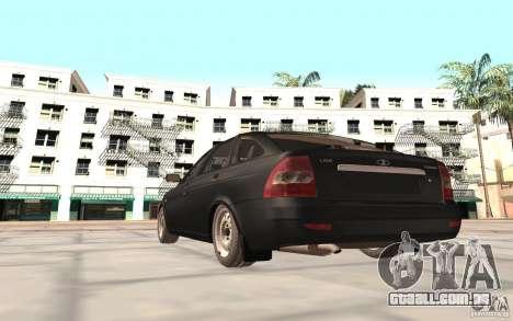 Hatchback de LADA priora 2172 para GTA San Andreas traseira esquerda vista