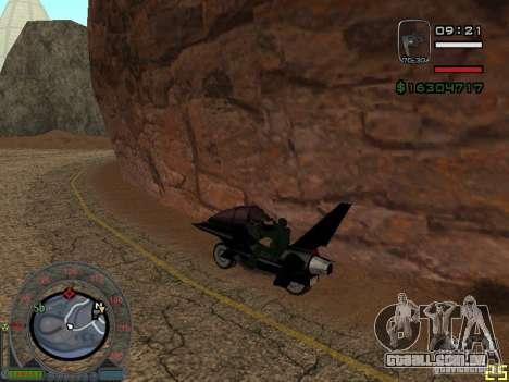 Motocicleta da cidade alienígena para GTA San Andreas esquerda vista