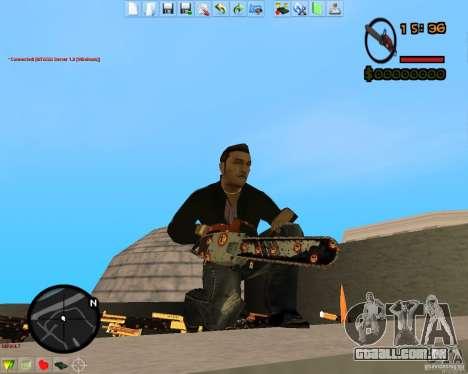 Smalls Chrome Gold Guns Pack para GTA San Andreas quinto tela
