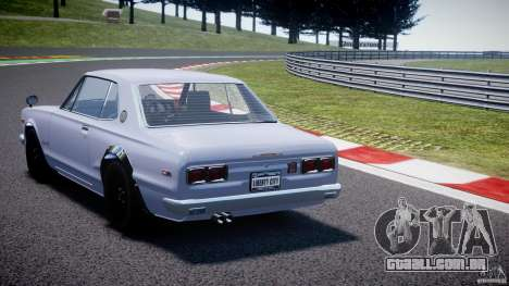 Nissan Skyline 2000 GT-R para GTA 4 traseira esquerda vista