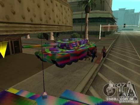 Um tanque de cor alegre para GTA San Andreas vista interior