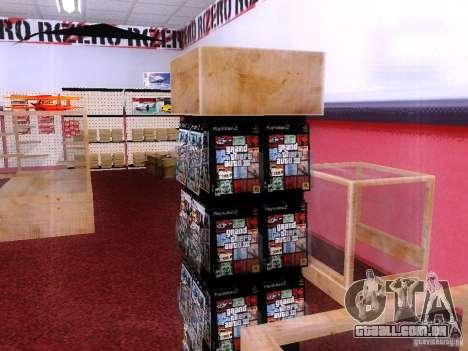 Drives com o GTA na loja Zero para GTA San Andreas por diante tela