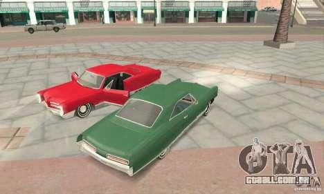 Pontiac Bonneville 1966 para GTA San Andreas vista interior
