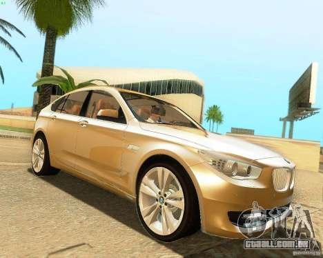 BMW 550i GranTurismo 2009 V1.0 para GTA San Andreas vista traseira