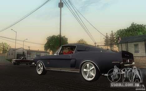 Shelby GT500KR para GTA San Andreas traseira esquerda vista