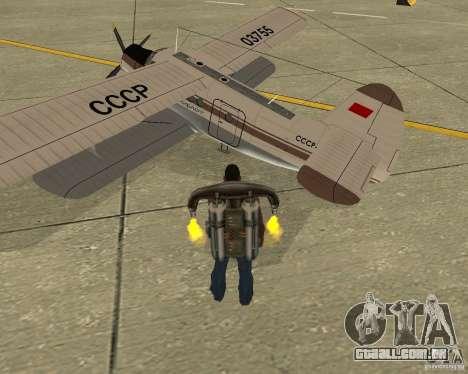 Antonov an-2 para GTA San Andreas esquerda vista