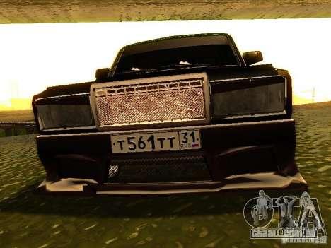 VAZ 2107 X-estilo para GTA San Andreas vista interior