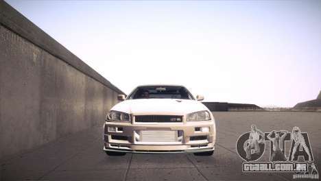 Nissan Skyline R34 para GTA San Andreas vista superior