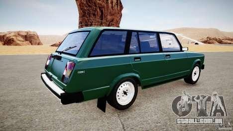 Final VAZ 2104 (cor) para GTA 4 esquerda vista