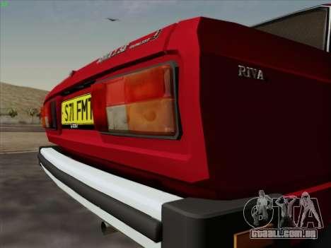 2105 Lada RIVA (exportação) 2.0 para GTA San Andreas vista interior