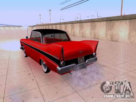 Plymouth Belvedere Sport Sedan 1957 para GTA San Andreas vista traseira