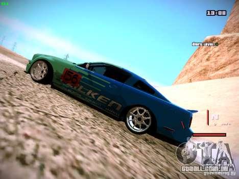 Ford Shelby GT500 Falken Tire Justin Pawlak 2012 para GTA San Andreas traseira esquerda vista