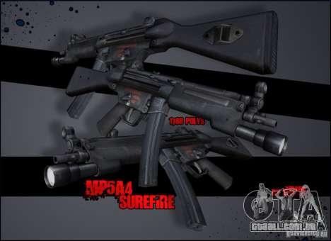 MP5A4 Surefire para GTA San Andreas segunda tela