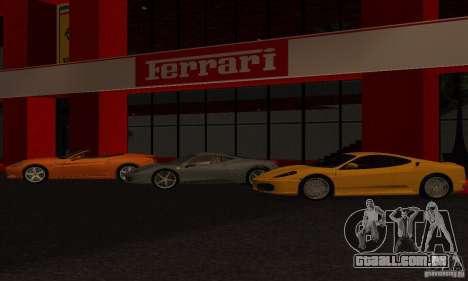 Novo Showroom da Ferrari em San Fierro para GTA San Andreas segunda tela