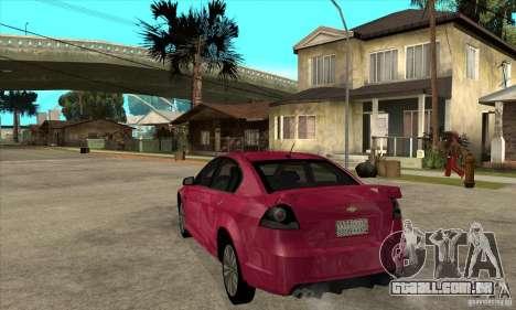 Chevrolet Lumina SS para GTA San Andreas traseira esquerda vista