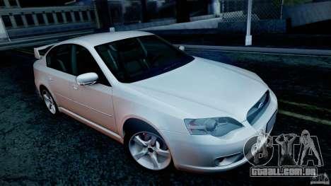 Subaru Legacy 2004 v1.0 para as rodas de GTA San Andreas