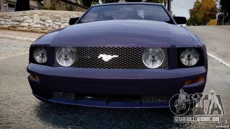 Ford Mustang para GTA 4 vista de volta
