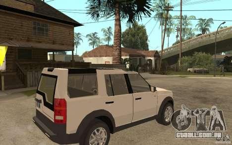 Land Rover Discovery 3 V8 para GTA San Andreas vista direita