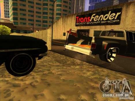 Chevrolet Silverado Towtruck para vista lateral GTA San Andreas