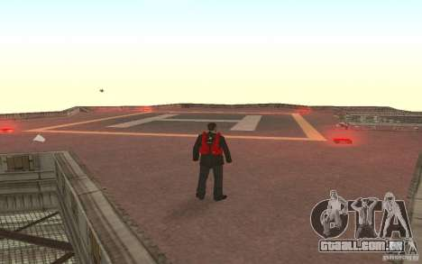 Global fashion parachute para GTA San Andreas segunda tela