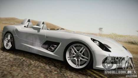 Mercedes-Benz SLR Stirling Moss 2005 para GTA San Andreas vista inferior