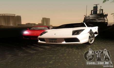 Lamborghini Murcielago para GTA San Andreas vista traseira
