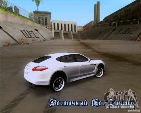 Porsche Panamera 970 Hamann para vista lateral GTA San Andreas