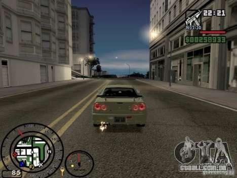 Fogo dos escapamentos v 2.0 para GTA San Andreas terceira tela