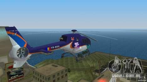 Eurocopter Ec-120 Colibri para GTA Vice City vista interior