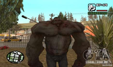 Tanque do Left 4 Dead para GTA San Andreas