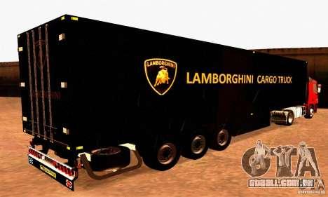 Lamborghini Cargo Truck para GTA San Andreas esquerda vista