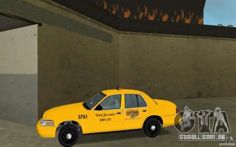 Ford Crown Victoria Taxi para GTA Vice City deixou vista
