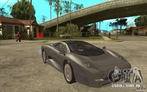 Jaguar XJ 220 para GTA San Andreas vista traseira