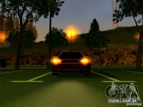 Nissan Skyline GT-R 34 para GTA San Andreas vista direita