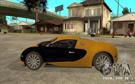 Bugatti Veyron v1.0 para GTA San Andreas esquerda vista