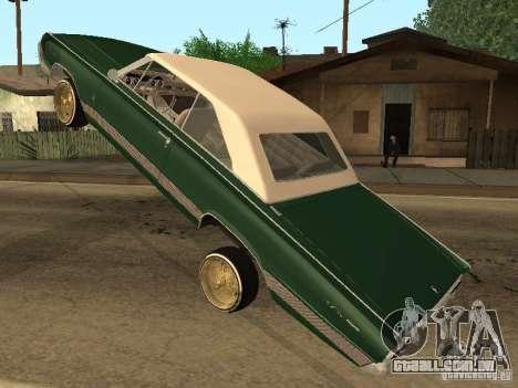 Mercury Park Lane Lowrider para GTA San Andreas vista traseira