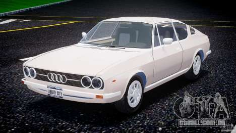 Audi 100 Coupe S para GTA 4 vista de volta