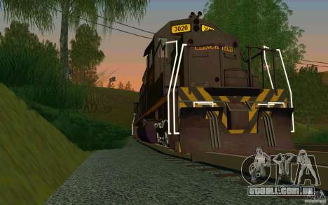 Clinchfield sd40 para GTA San Andreas vista direita