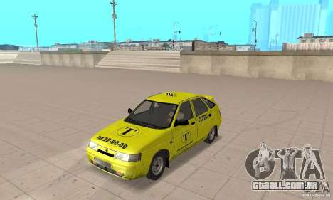 VAZ 21124 TÁXI para GTA San Andreas