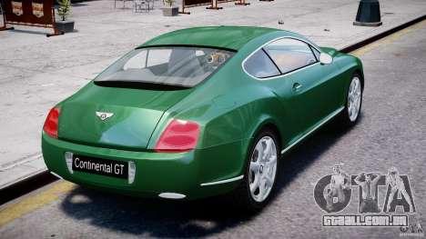 Bentley Continental GT para GTA 4 vista inferior