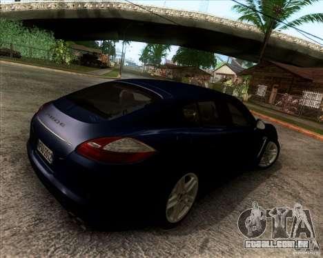Porsche Panamera Turbo 2010 Final para GTA San Andreas vista traseira