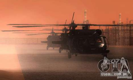 UH-60M Black Hawk para GTA San Andreas vista superior
