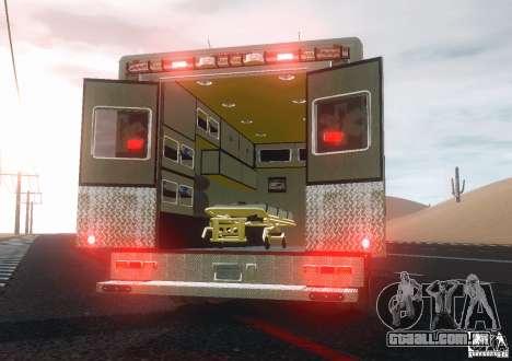 Ford F350 FDLC Ambulance v3.0 ELS para GTA 4 vista direita
